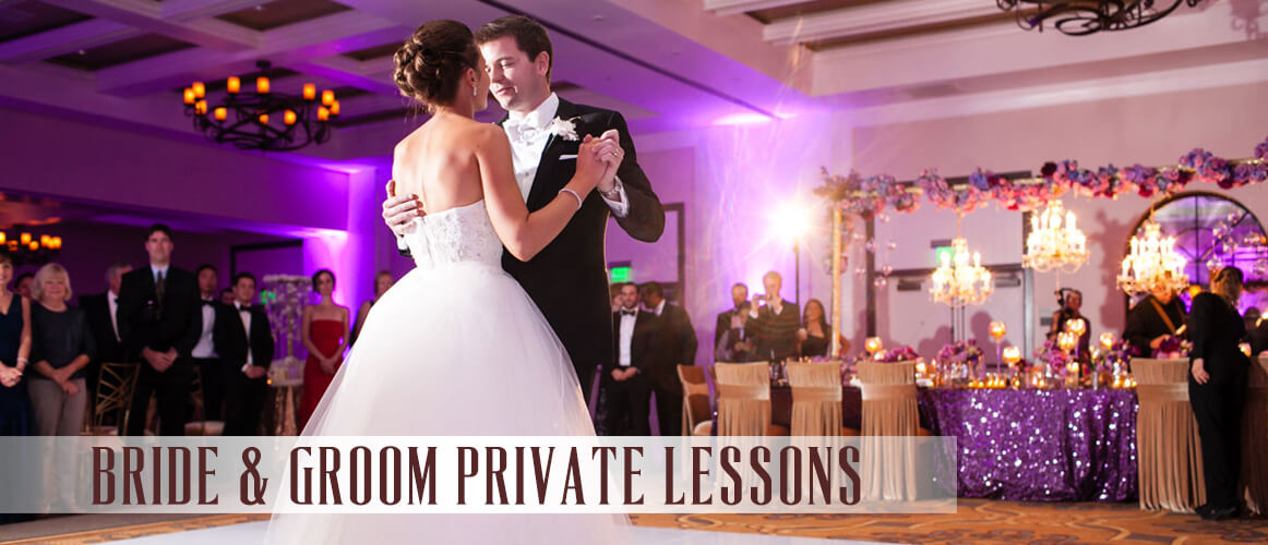 bride and groom private dance lessons